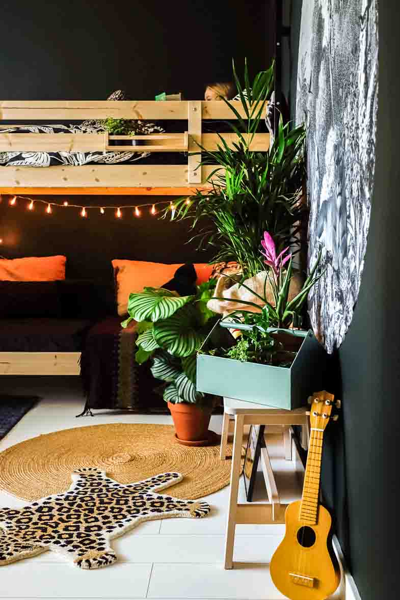 Spend the night in a jungle room