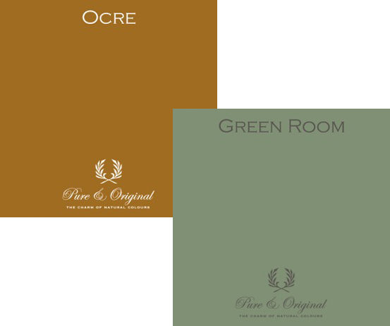 Pure & Original colours in Ocre and Green Room