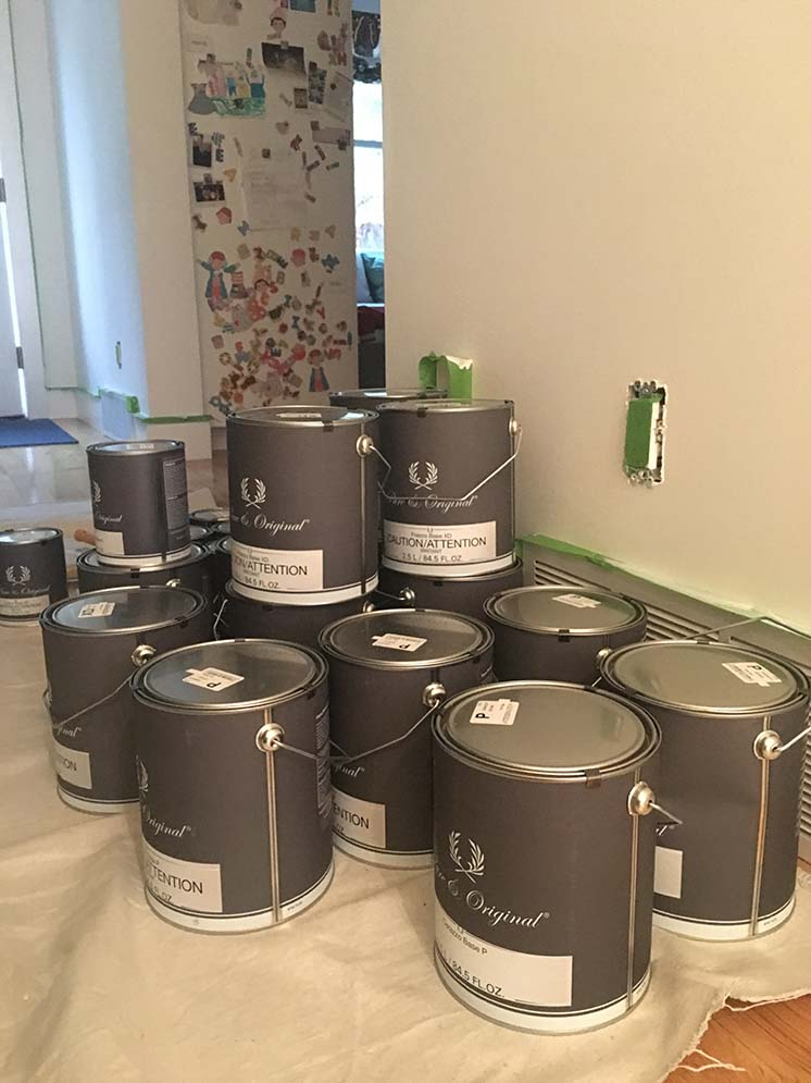Pure & Original paint cans for painting the hallway