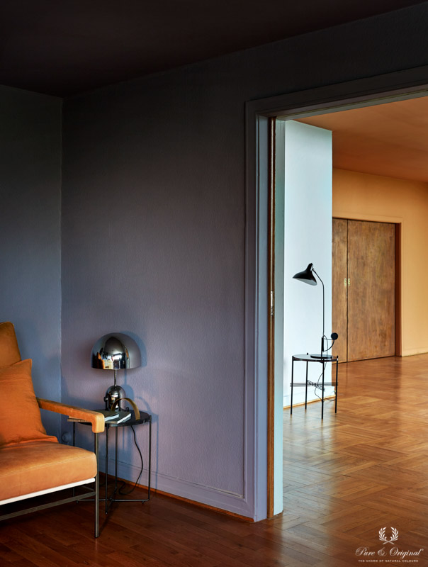 Walls and ceiling in classic purple, Bohemian Classico