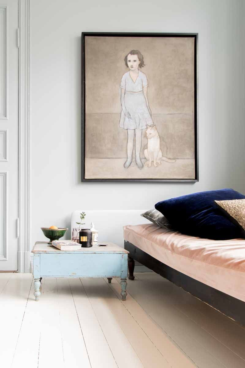 Daybed in pastel tones, Classico Polar Blue