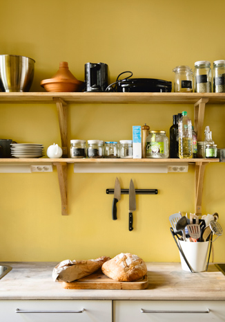 Kitchen in happy yellow