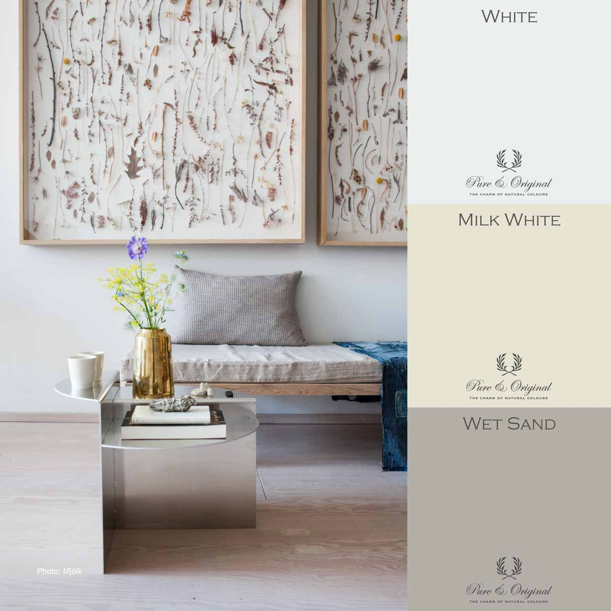 Soft tints for a quiet ambience