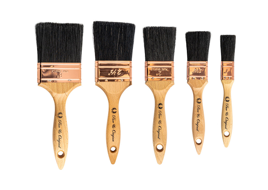flat paint brushes Pure & Original