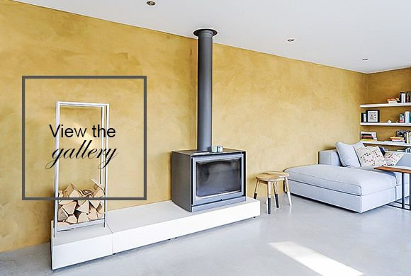 Marrakech Walls in the colour Provincial Gold, applied in the living room