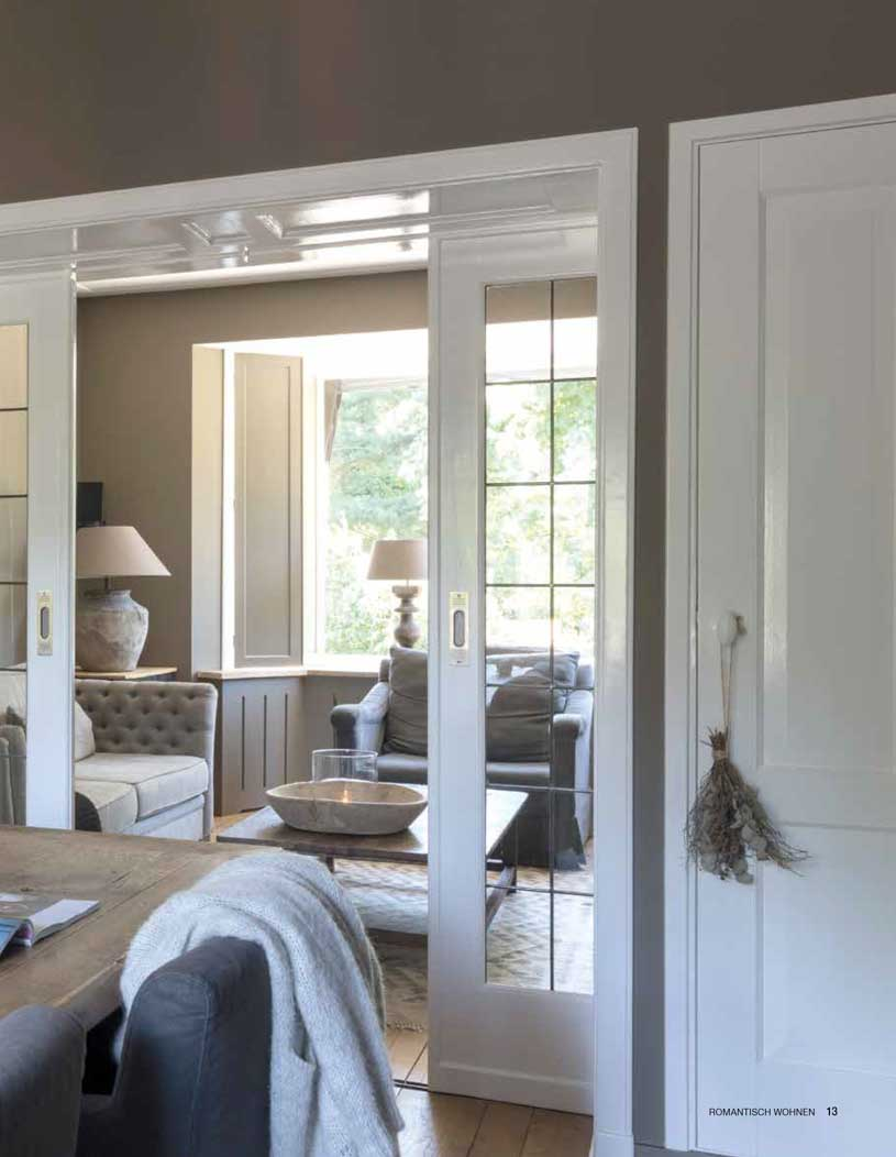 Nostalgic country house with brown and white tints