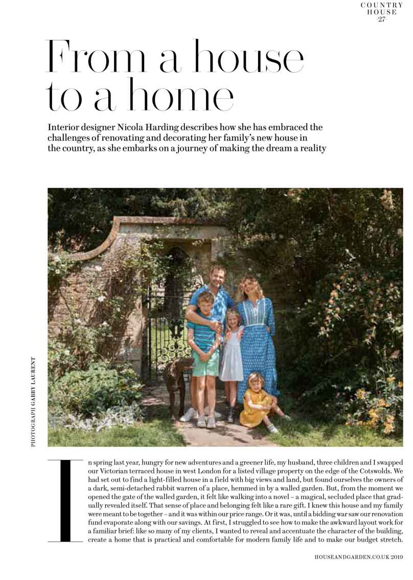 Article with a picture of the family