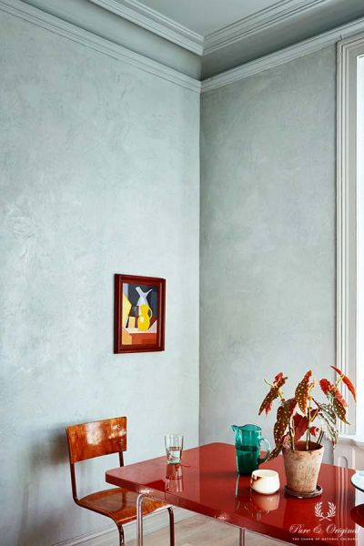 Colour Collection kitchen table, Marrakech Walls, Classico and Traditional Paint in Polar Blue
