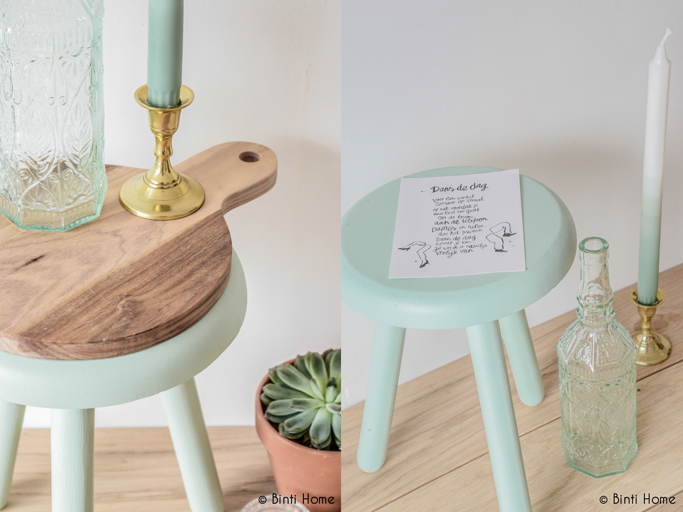 Stool make-over with Poetic Blue